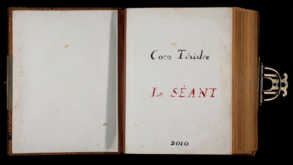 Livre d'artiste, page titre