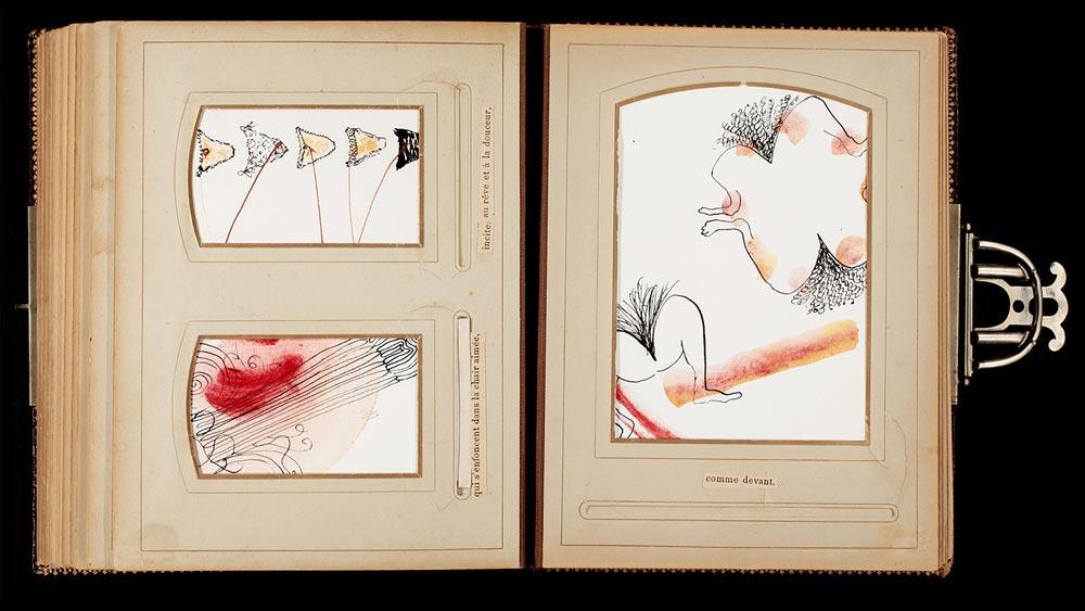 Livre d'artiste, double page