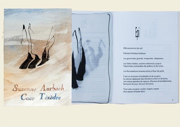 Livre d'artiste Suzanne-Aurbach-Epiphanies-de-l'herbe-2014